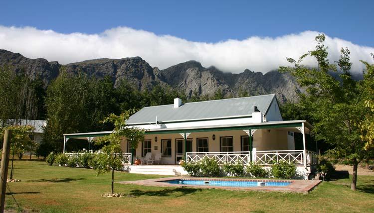... working fruit farm in Franschhoek Wine Valley, gourmet capital of